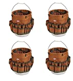 Bucket Boss The Bucketeer Bucket Tool Organizer in Brown, 10030 (Pack of 4)