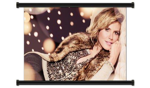 Heidi Klum Hot Sexy Model Fabric Wall Scroll Poster