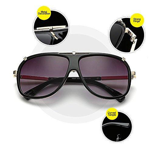 Aviator Gris noir Boss hommes avec homme pour Wear vue Lens lunettes de étui pour Big Oversize Vision Eye de Day Lunettes soleil conduite FBTwx0yZq