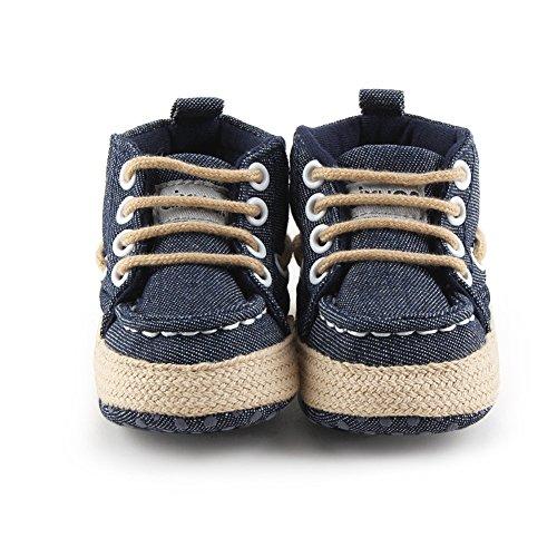 Luerme Zapato de Primer Paso Zapato deportivo de niños Zapato de cuatro estación Azul oscuro