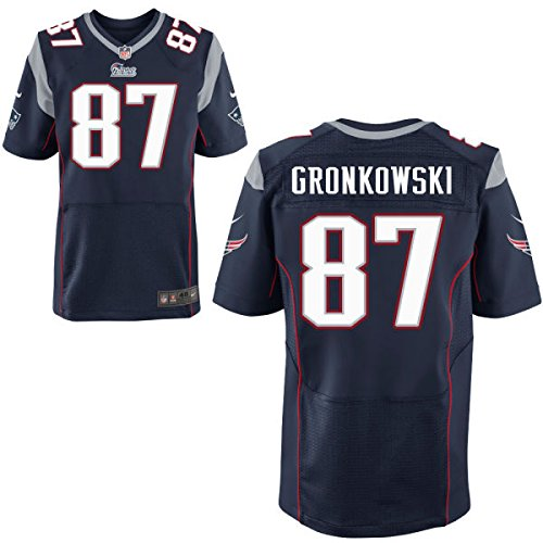 87 Gronkowski Rob Trikot New England Patriots Jersey American Football Shirt Mens Elite Blue Size L(44)
