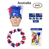 AmorL&C Hair Wigs 2018 World Cup Football Soccer Fans Wig Equiment Kits Party Halloween Wig Cosplay Costume Color Wigs Sport Flag Headband(Germany)