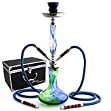 """GSTAR 22"""" 2 Hose Hookah Complete Set with Optional Carrying Case - Swirl"""