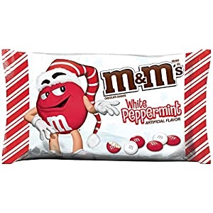 M&M's White Peppermint Candies for The Holidays, 8 Ounce