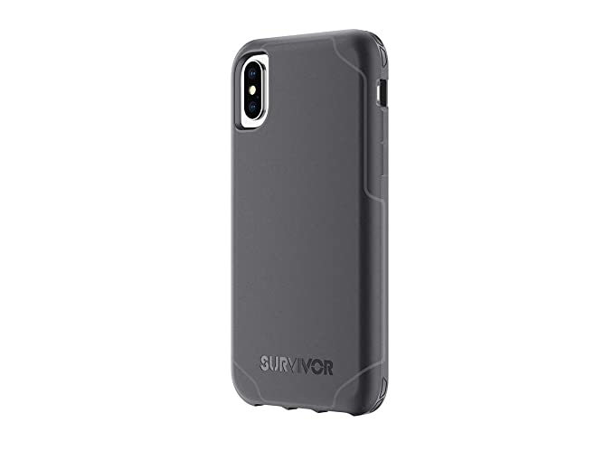 outlet store e0de9 9100c Griffin Survivor Strong iPhone X Case with Slim and Shock-Absorbing Design  - Black/Dark Gray