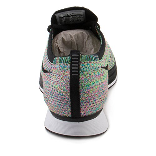 Nike Unisex Flyknit Racer Green Strike/Black Blue Lagoon Running Shoe 10 Men US / 11.5 Women US by NIKE (Image #3)