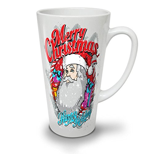 Santa Holiday Christmas White Ceramic Latte Mug 17 oz | (25 Totally Inappropriate Halloween Costumes)
