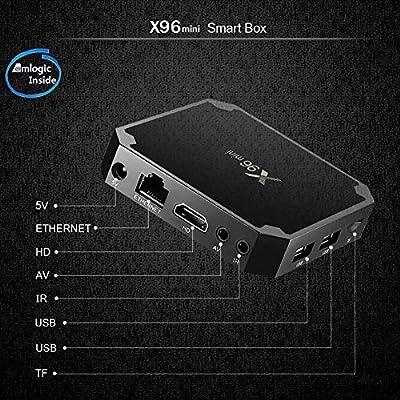 Meele X96 Mini Android 7.1.2 TV Box con procesador Amlogic S905W Quad Core de 64 bits 2GB RAM+16GB ROM WiFi 4K HD H265,Negro: Amazon.es: Hogar