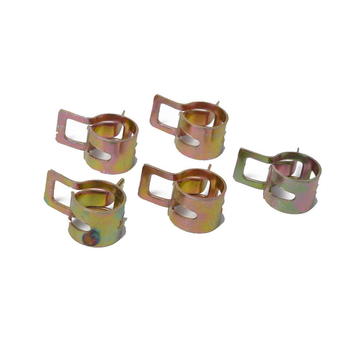 Amaoma 50 Pi/èces Clip /à Ressort 6mm,Pinces /à Ressort Serre-joints /à Tuyaux Colliers de Clip /à Ressort Tuyau Serrage Ajustable