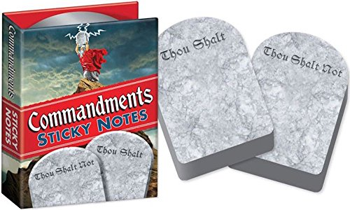 Commandments Sticky Notes Booklet