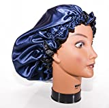 "Product review for X - Large, NAVY BLUE 24"" Reversible Luxuries Pure Satin Hair Bonnet for Women, Men, Kids & Teens Used for Dry, Damaged, Colored Safe For All Hair Types - Anti Aging Hair Care ..."
