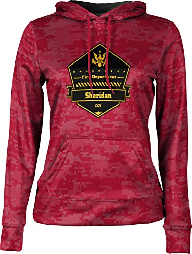 Price comparison product image ProSphere Girls' Cane Creek Volunteer Fire Department Digital Pullover Hoodie