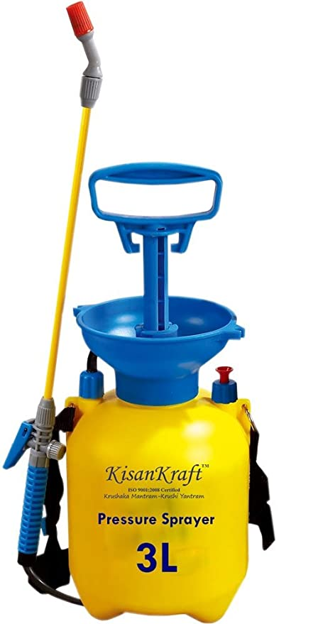 Kisan Kraft KK-PS3000 Manual Sprayer (3 Litre, Multicolour, Plastic)
