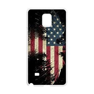 Grunge USA Flag Samsung Galaxy Note 4 Cell Phone Case White G7678682