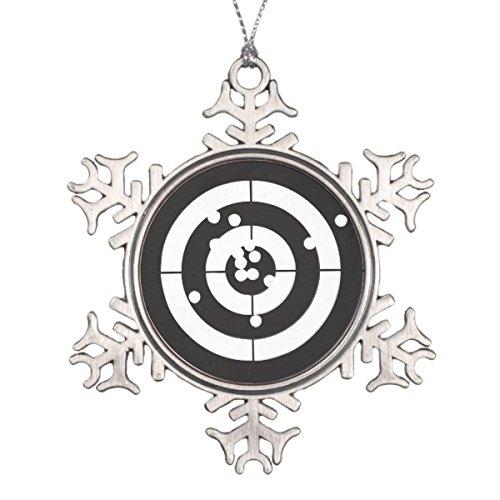 Pewter Christmas Bells Ornament (Follies Christmas Target Practice Snowflake Pewter Christmas Ornament)