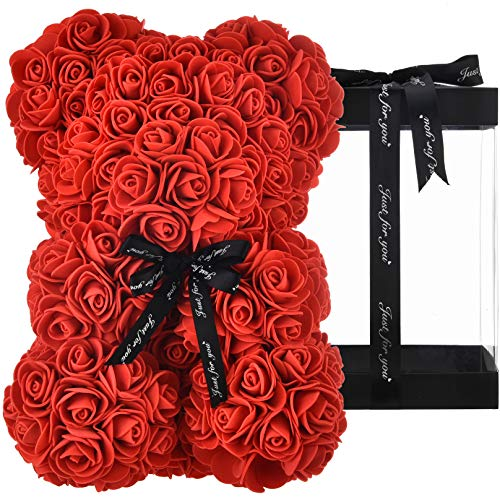 Rose Bear red – Mom Gifts for women gifts for birthday girlfriend gifts for her, Rose Flowers Bear Rose Teddy Bear…