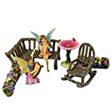 Pretmanns Fairy Garden Fairies – Miniature Accessories & Furniture – 7 Pieces – Fairy Garden Supplies For Sale
