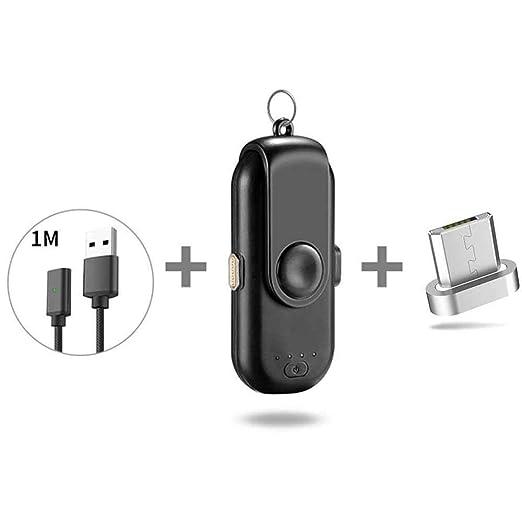 Cargador magnético portátil con cargador de potencia, cargador de batería externo inalámbrico compatible con iPhone / Android / Type-C teléfono ...