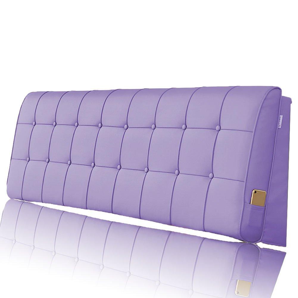 LIANGLIANG クッションベッドの背もたれ 二人の特別な大きい耐久性のある柔らかい洗え、5サイズ13色 (色 : Purple, サイズ さいず : Length 150cm) B07FQRD27H Length 150cm Purple Purple Length 150cm