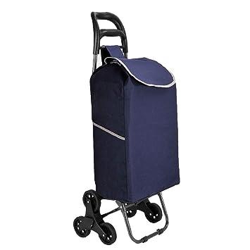 Carrito De Equipaje Oxford Tela Carrito Exterior Plegable Escaleras Portátiles Remolque Remolque Inicio Carro De La Compra (Color : Azul): Amazon.es: ...