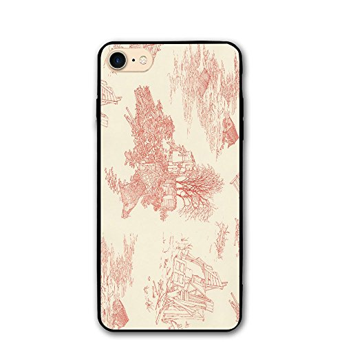 Village Paintings After Floods Print IPhone 7 Case 8/8s Cases PC Material Full Protection Fit Resistant 4.7 Inch Cover ()