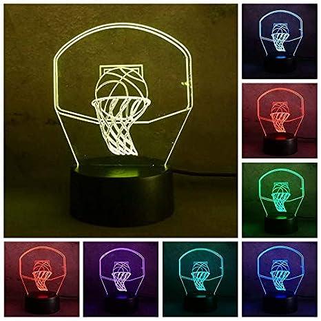 Yangll Ilusión Óptica Mágica Lámpara 3D Lámpara Nocturna Usb Led 7 ...