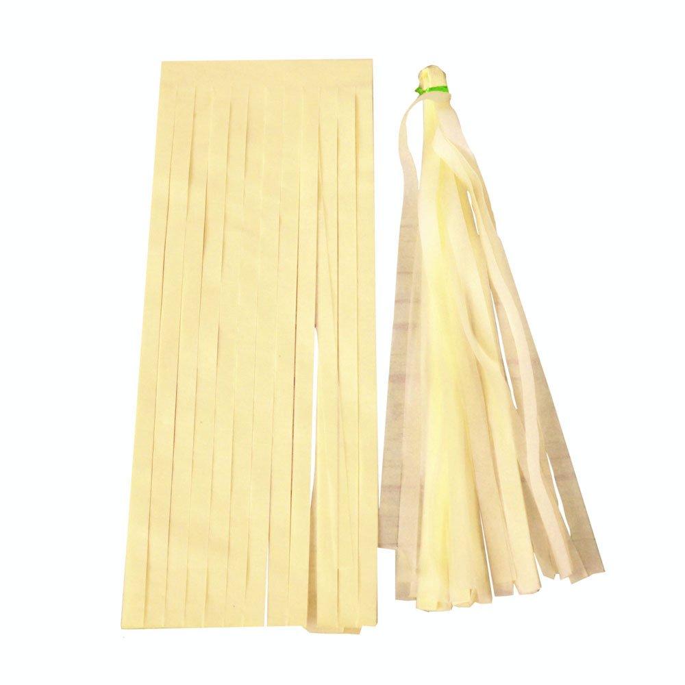 5PCS//set 35/cm nappa carta velina ghirlanda banner per evento di nozze Baby Shower party supplies kit fai da te 12cm*35cm Beige