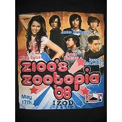 Medium T-shirt: Zioo's Zootopia '08 (Miley Cyrus, Jonas Brothers, Gavin DeGraw, Jesse McCartney) [Adult]