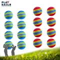 PLAYEAGLE 20pcs Assorted Colorful Golf Sponge Foam Balls for Swing Training Aids Indoor Golf Practice