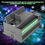 PLC Controller, DC24V Programmable Logic Controller 4 Channel 100K Pulse 32bit MCU Industrial Control Board with Housing for FX1N-32MT, 16 Point Input 16 Transistor Output