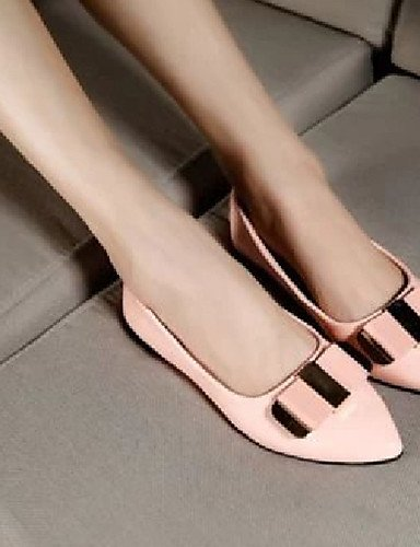 Yyz Pink Semicuero Rosa Casual Planos Zq Zapatos Puntiagudos Eu36 Negro Cn39 Black us8 5 Cn35 Uk3 5 us5 Uk6 De Tac¨®n Eu39 Plano Mujer f7dzpPq7