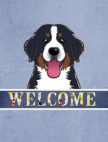 Caroline's Treasures BB1423GF Bernese Mountain Dog Welcome Flag, Small, Multicolor