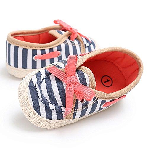 sandalias nina verano baratas Switchali Recién nacido otoño zapatos bebe niña primeros pasos con suela princesa Zapatos bowknot Sandalias de vestir niña casual Zapatillas Azul