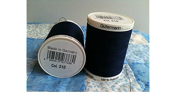 Gutermann Sew todos Hilo 310 Azul Marino
