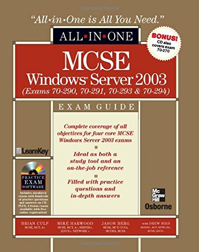 MCSE Windows Server 2003 All-in-One Exam Guide (Exams 70-290, 70-291, 70-293 & 70-294) American Drew Server