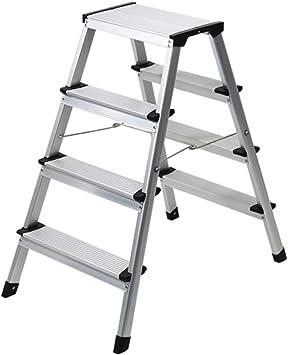 Escalera plegable Escalera exterior, Escalera de metal de cinco escalones de doble escalón Escalera plegable de cuatro peldaños Multifuncional (Tamaño : 475 * 785 * 800MM): Amazon.es: Bricolaje y herramientas
