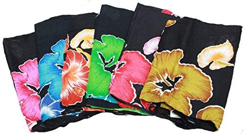 Sarong de la flor, Pareo, paño de cadera, falda, toalla de baño Rojo rojo Talla:160 x 115 Amarillo - amarillo