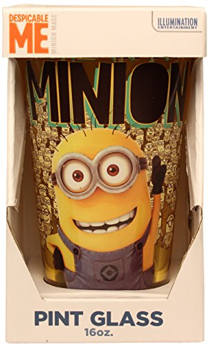 Silver Buffalo DM09031P Universal Despicable Me One in a Minion Pint Glass, 16-Ounces