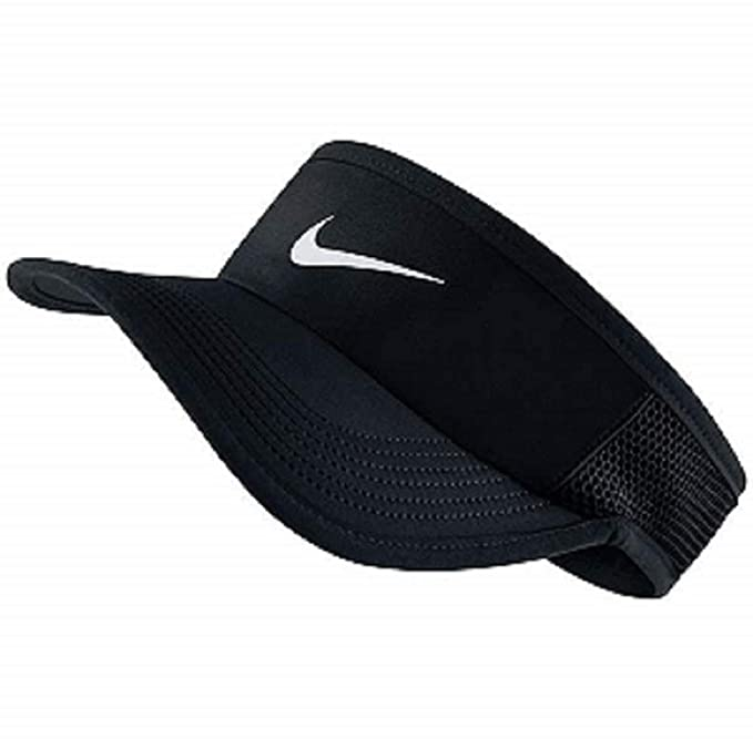215b94c09a1 Amazon.com  Nike Feather Light Tennis Visor Black White Size Medium ...