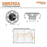 "4 x PRV Audio 6MR250A-8 Mid Range 6"" Pro Audio Loud Speaker 8 ohm 1000 Watts"