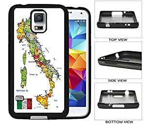 Travel Map Of Italy with Flag Galaxy S5 Hard (PC) Back Case