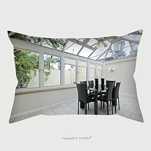 Custom Microfiber Pillowcase Protector Double Glazed Atrium With Modern Dining Table 43237540 Pillow Case Covers Decorative price