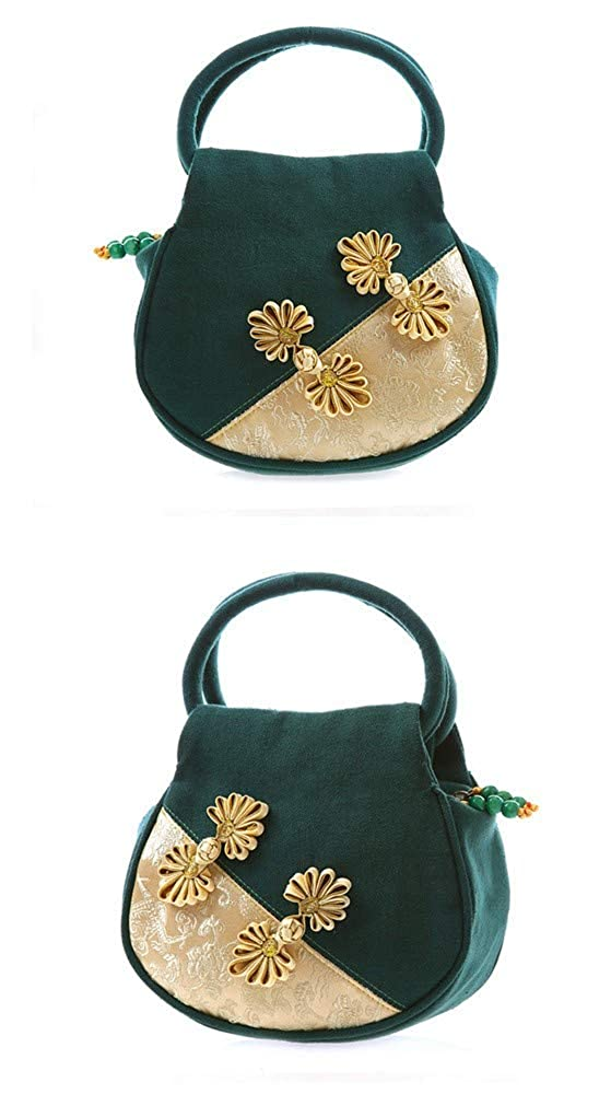 RFVBNM handbag retro wind embroidered bag womens canvas bag cheongsam bag Satchel Bag Design For Women Girls Students