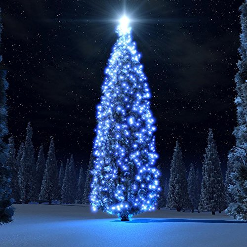100 Blue Solar Powered Led Outdoor String Fairy Lights - 7
