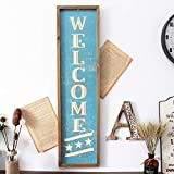 """Funly mee 32"""" Wooden Framed Welcome Decorative Wall"""