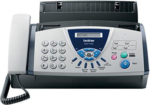 Brother FAX-T104 Thermo Transfer Faxgerät, grau/weiß