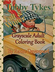 Tubby Tykes Fall & Winter Grayscale Adult Coloring Book