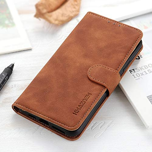 BELLA BEAR Hoes voor Oppo A72 portefeuille holster bracketfunctie Phone Case for Oppo A72 bruin