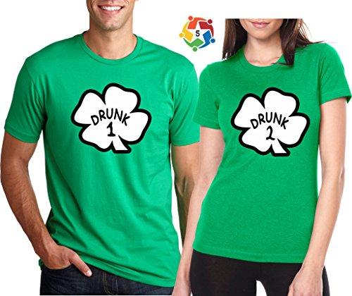 Arts & Designs Drunk 1 Drunk 2 3 4 5 any Number Saint Patrick's Day Custom Matching Shirts Large Adult Lady Jr - Shop Number 4