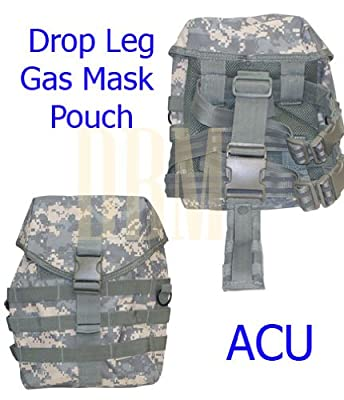 Gas Mask Model: Molle Tactical Drop Leg Gas Mask Pouch Pocket Bag Thigh Utility Carrier ACU from Generic :: Gas Mask Bag :: Army Gas Masks :: Best Gas Mask